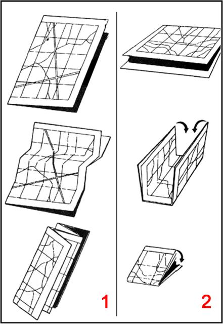due tecniche per piegare una mappa