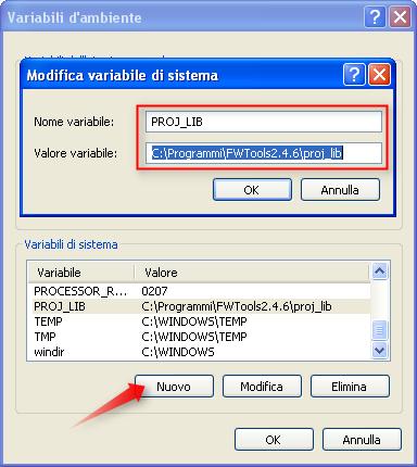 PROJ_LIB MapServer Windows