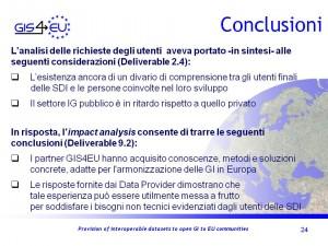 GIS4EU WP9-2 Genova Conclusioni1