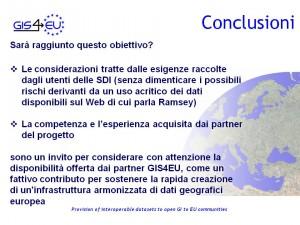 GIS4EU WP9-2 Genova Conclusioni5