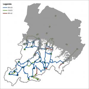 Scenario dei percorsi in Appennino