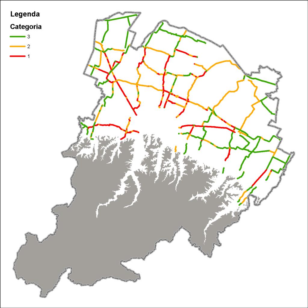 Mappa della rete strategica in pianura