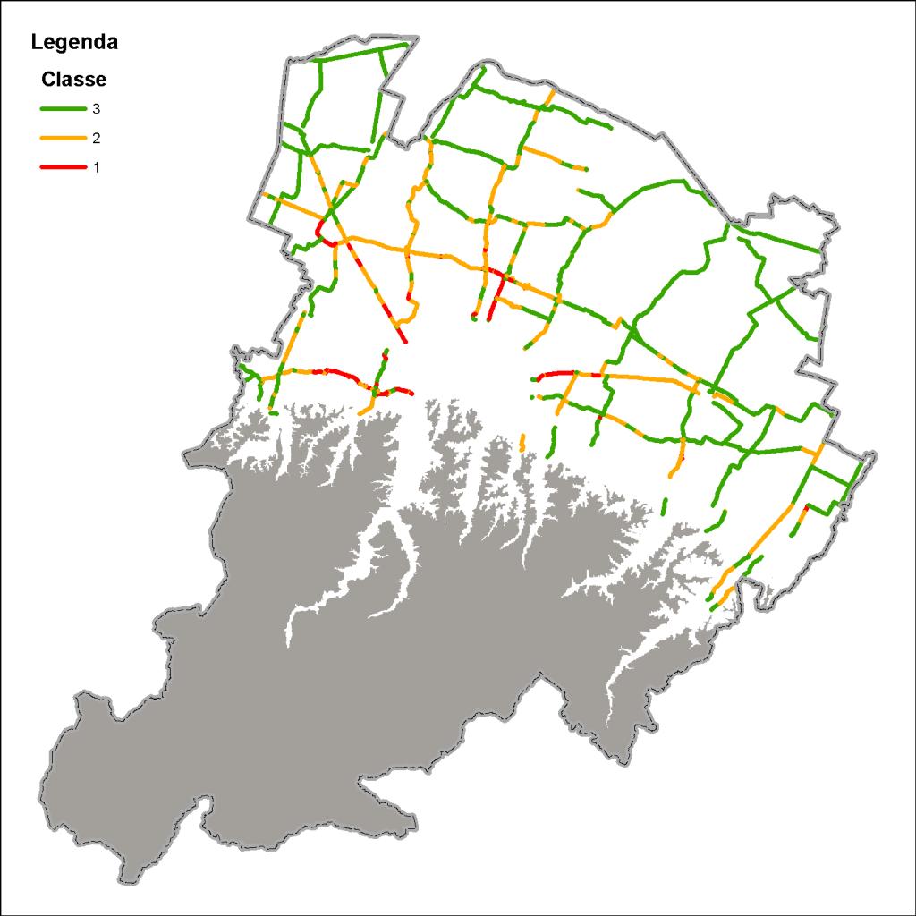 Mappa del traffico in pianura