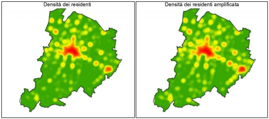 Mappa della densità dei residenti