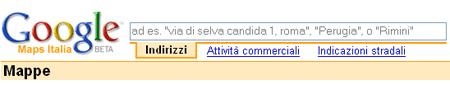google map italia