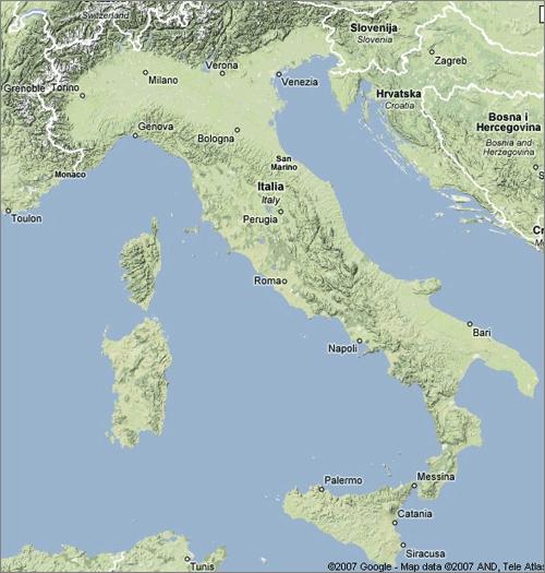 google terrain