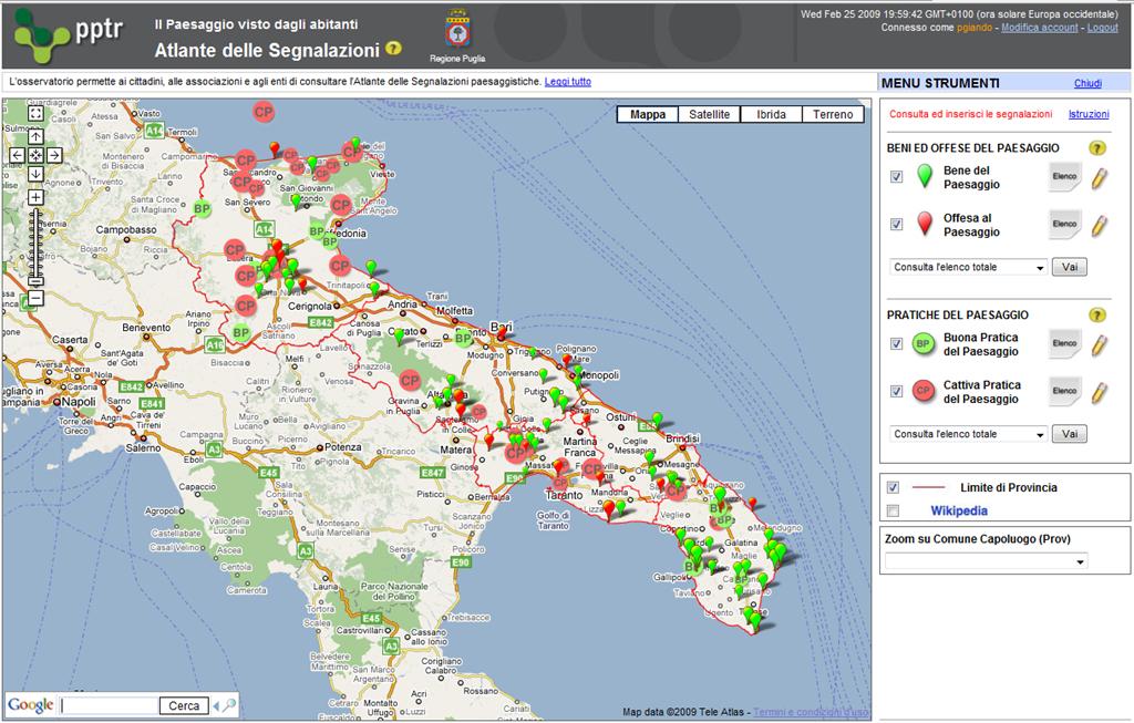 Cartina Igm Puglia.Tanto Archivio La Nuova Carta Tecnica Della Regione Puglia